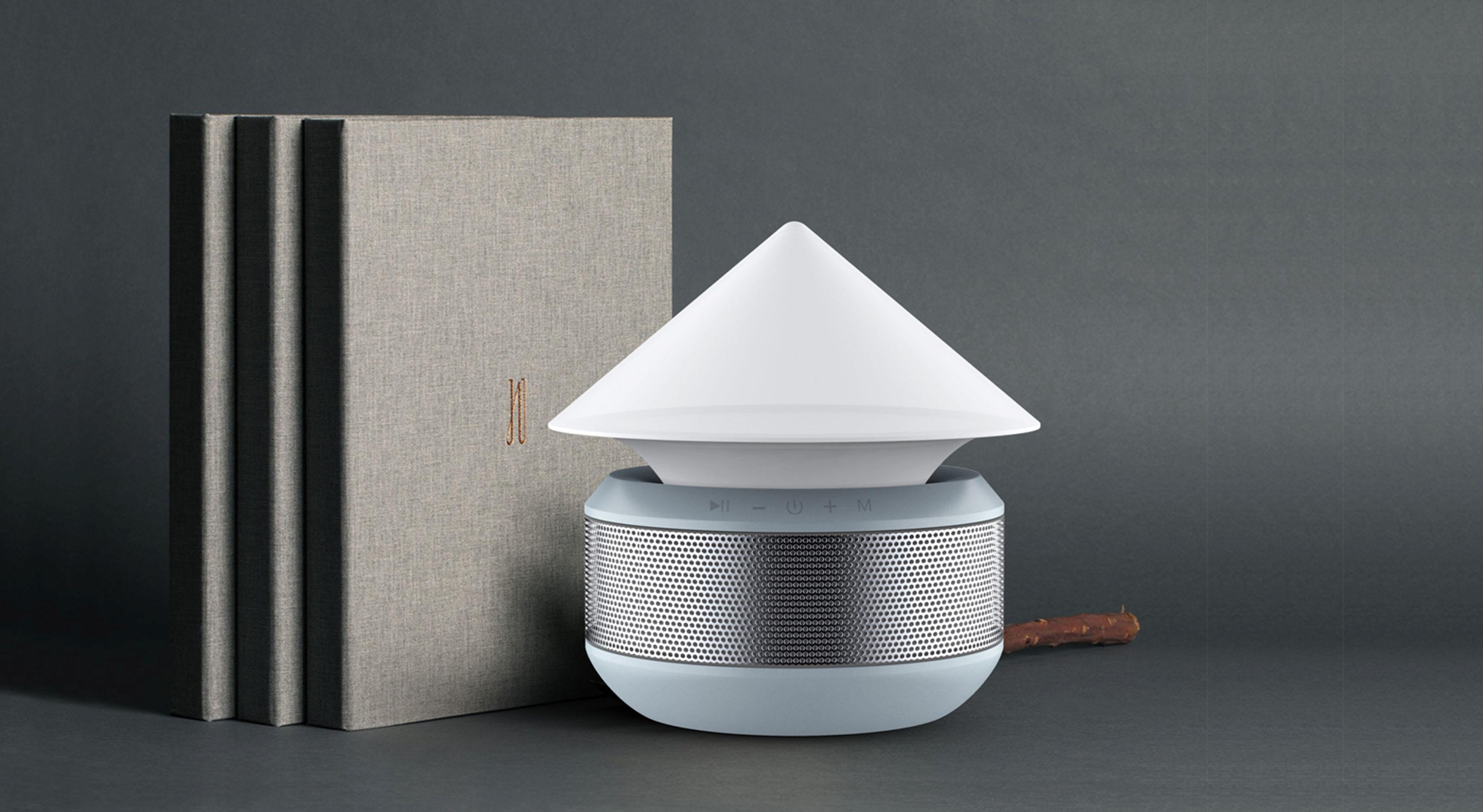 室内及户外蓝牙音箱台灯1_产品设计-来设计