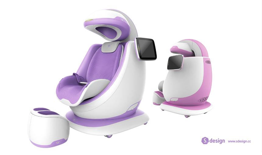 儿童超低频颅磁刺激仪2_产品设计-来设计