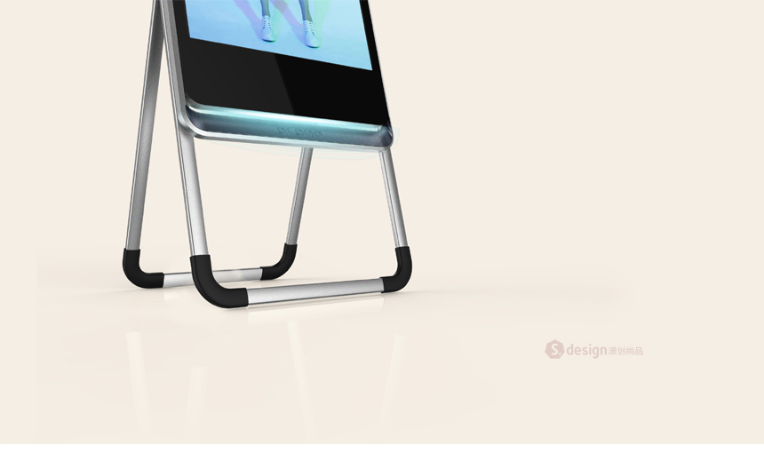 移动式立式广告机_产品设计-来设计