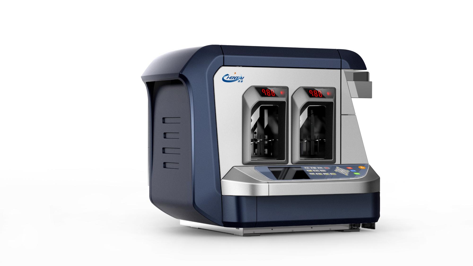 纸币清分机两口机_产品设计-来设计