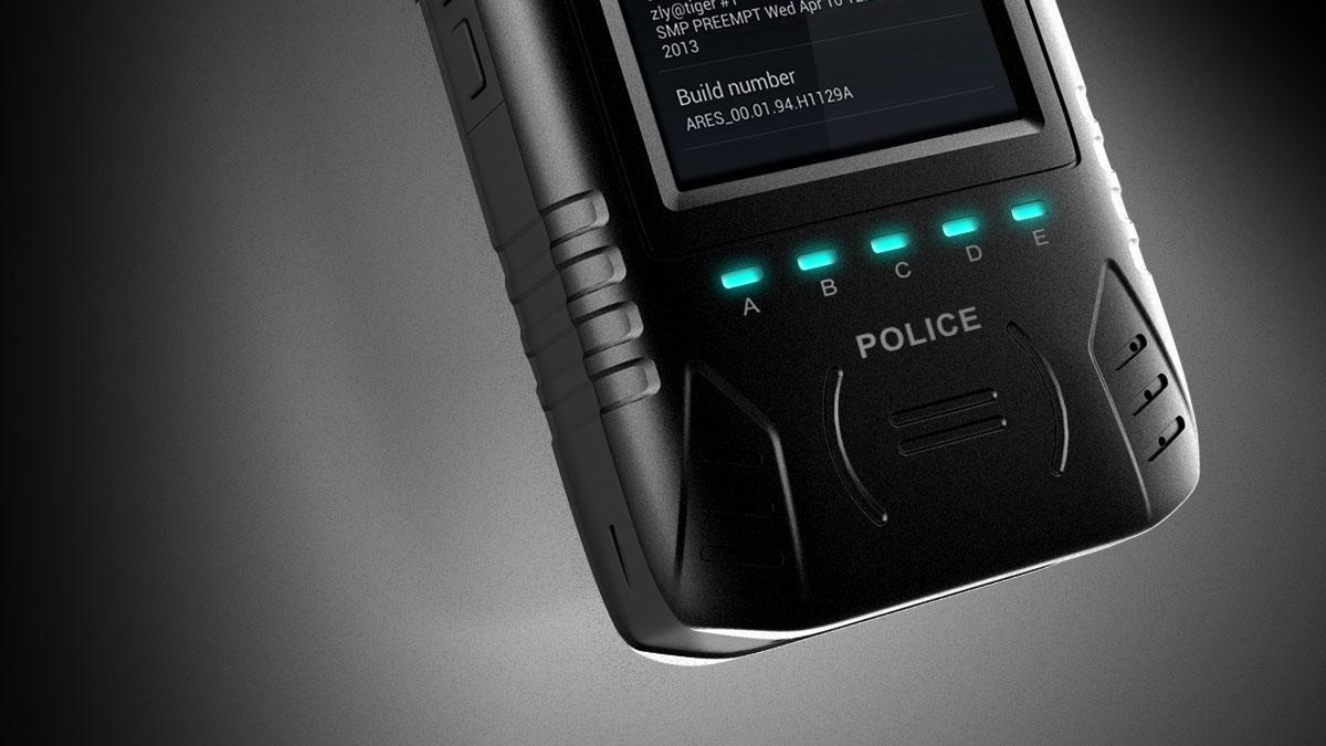 警用智能设备终端4_产品设计-来设计