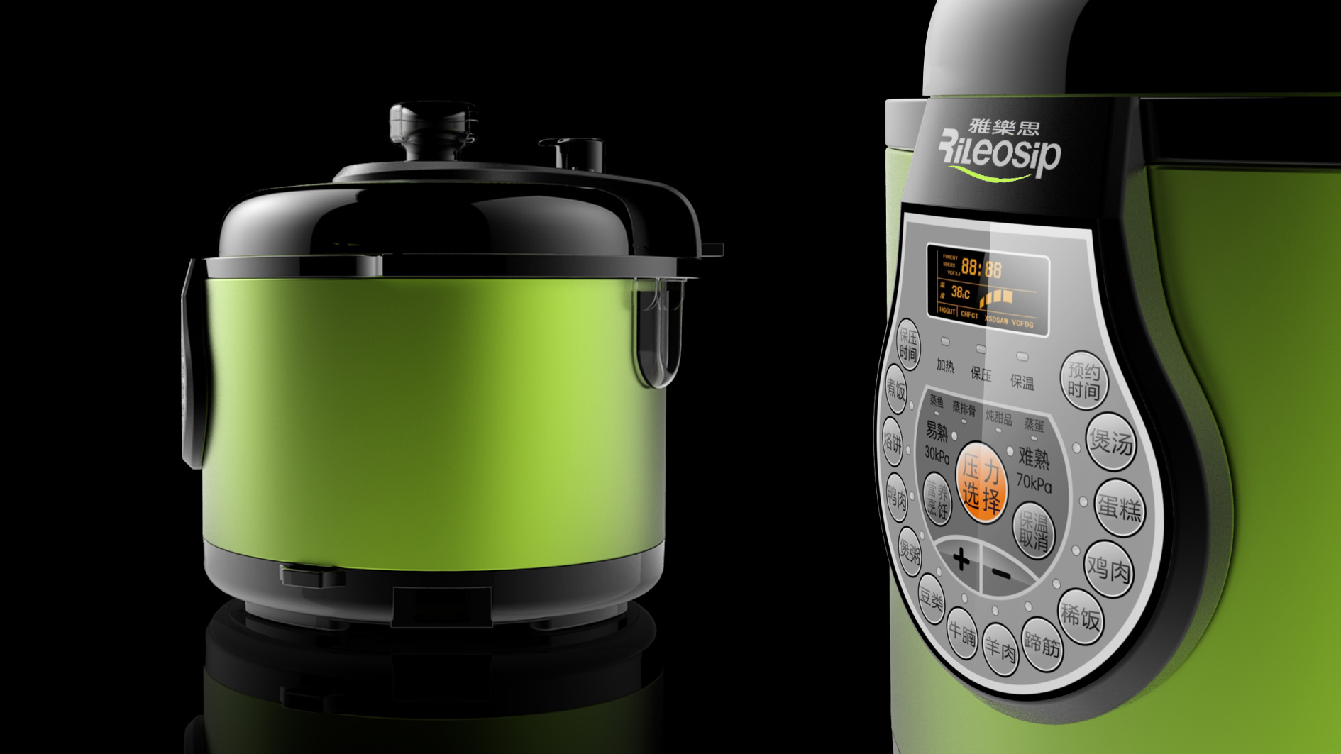 半塑传统控压力锅2_产品设计-来设计