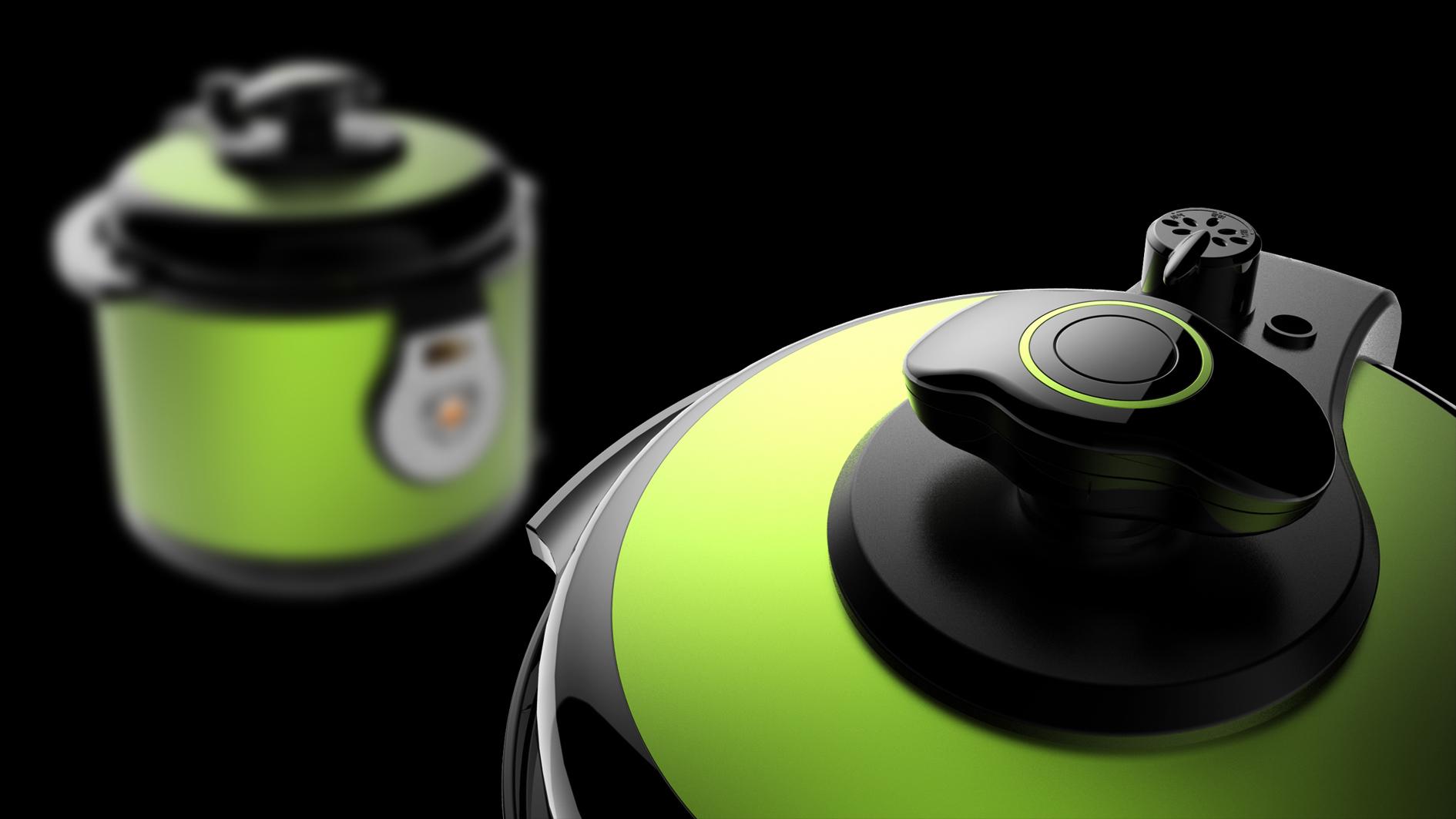 半塑传统控压力锅_产品设计-来设计
