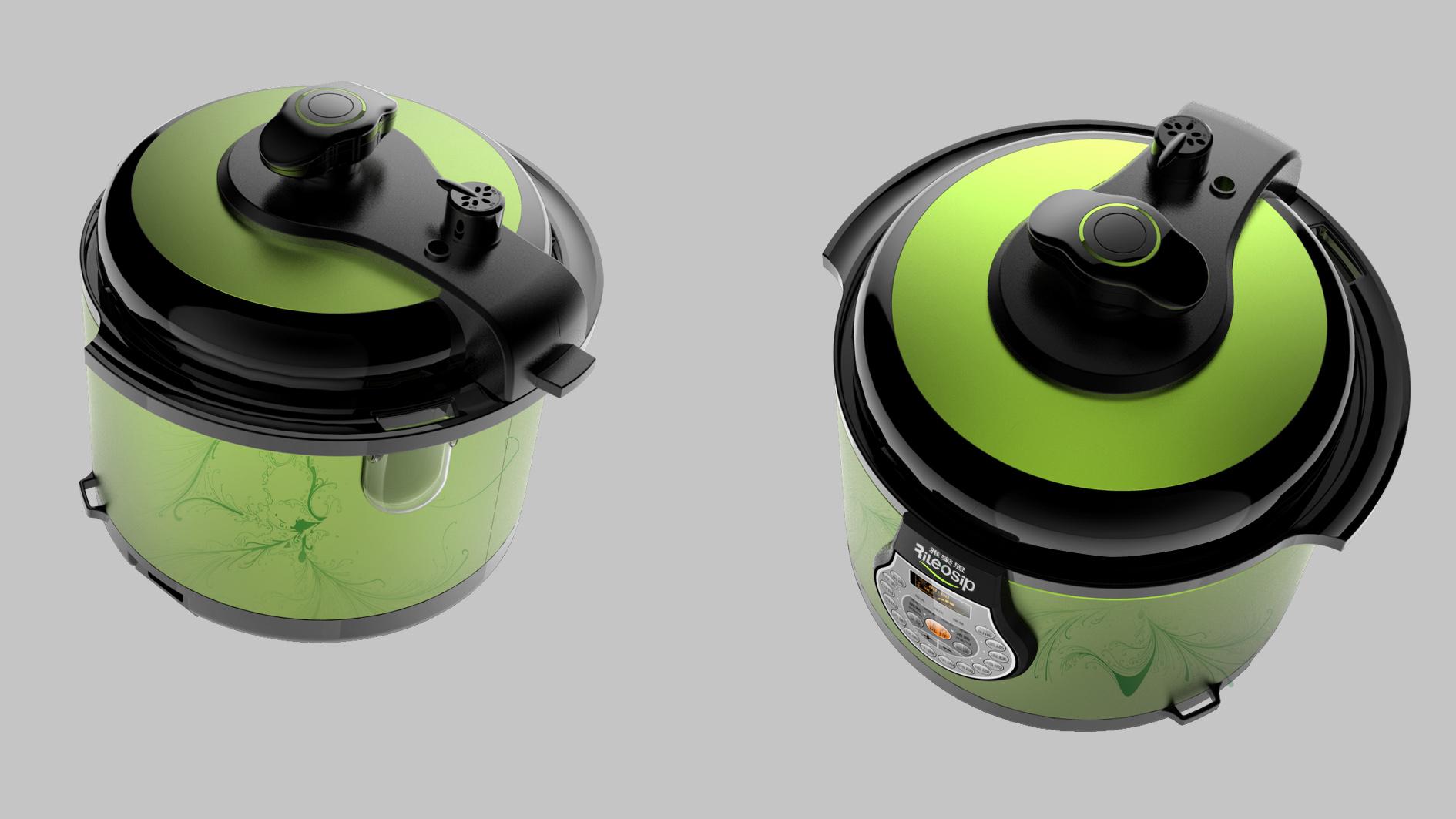 半塑传统控压力锅3_产品设计-来设计