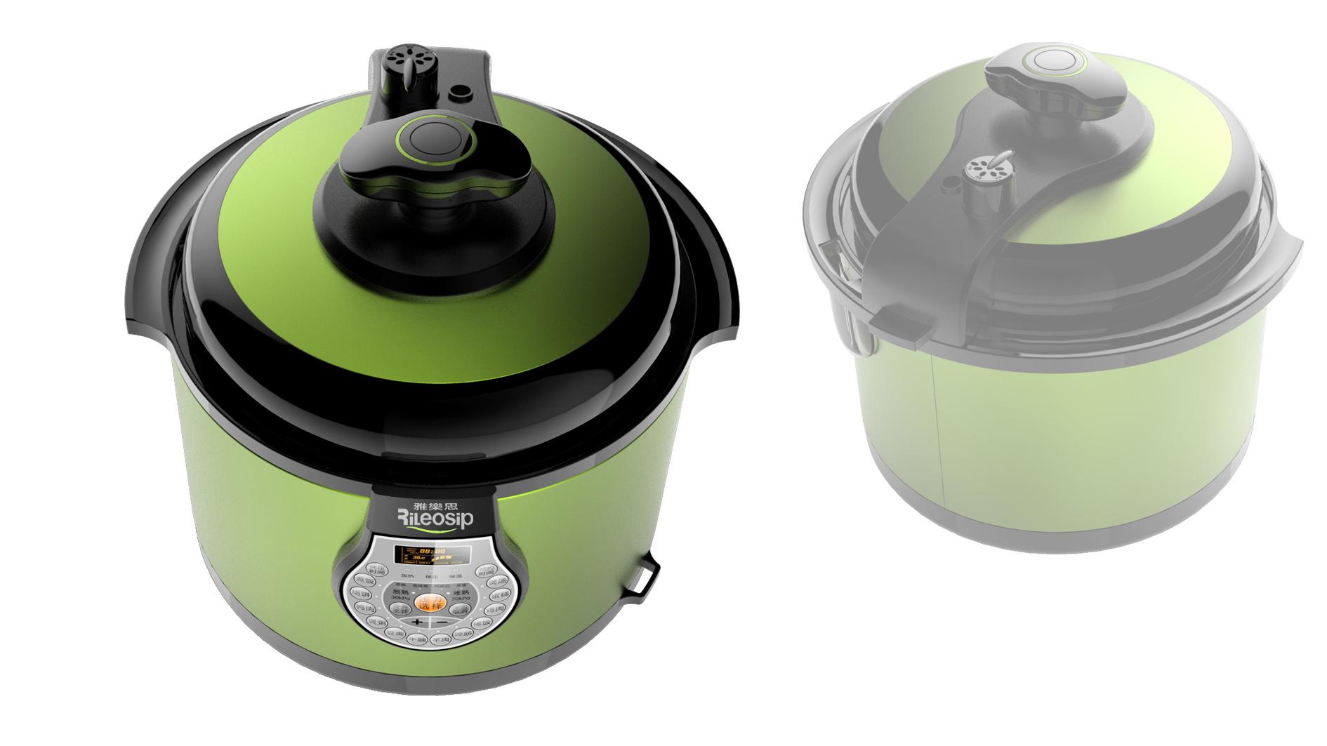 半塑传统控压力锅4_产品设计-来设计