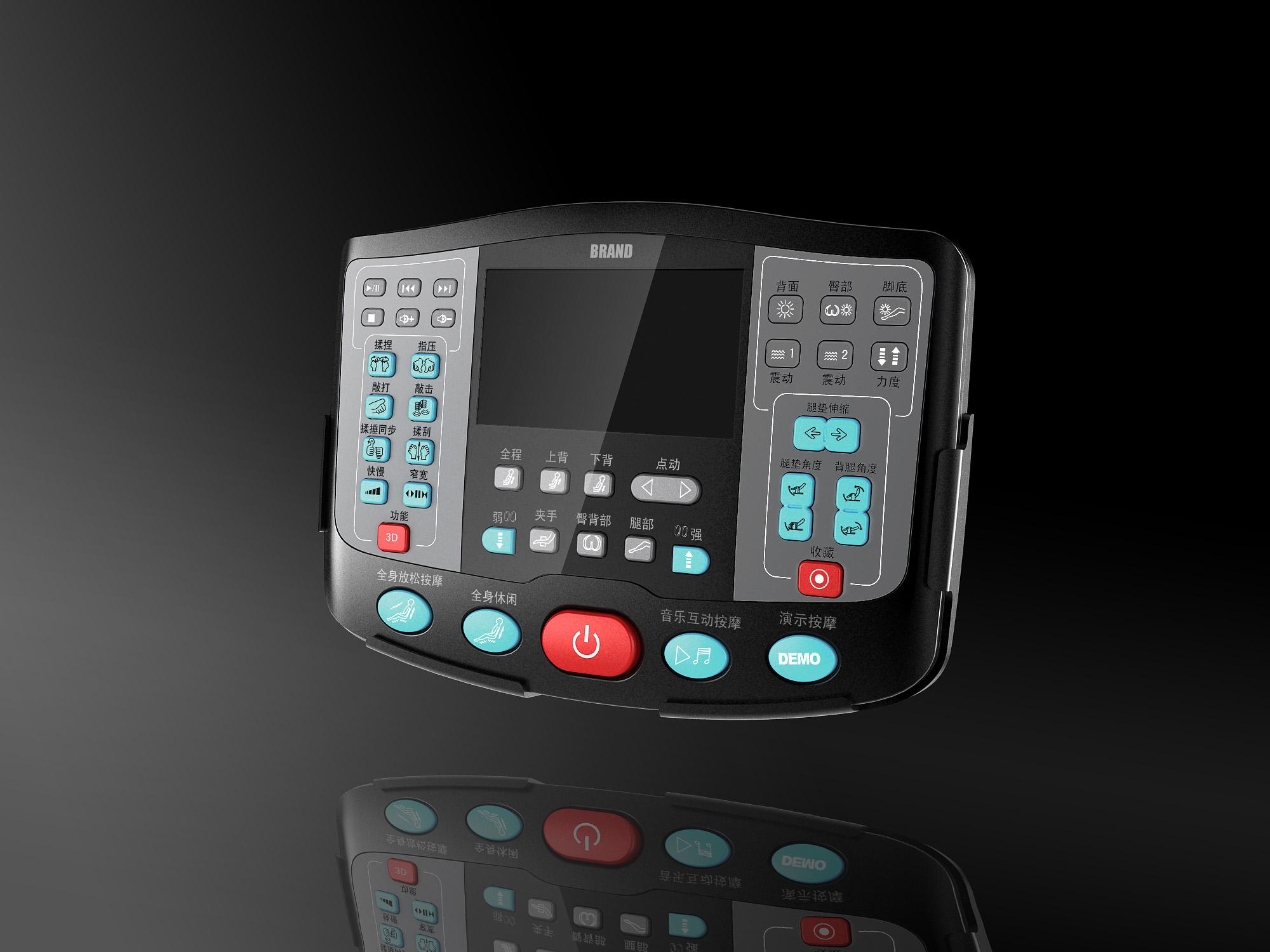 按摩椅手控终端_产品设计-来设计
