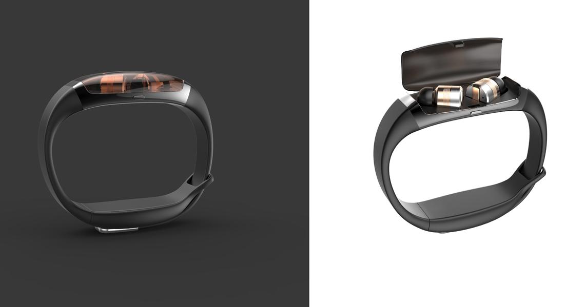 智能手環藍牙耳機2_產品設計-來設計
