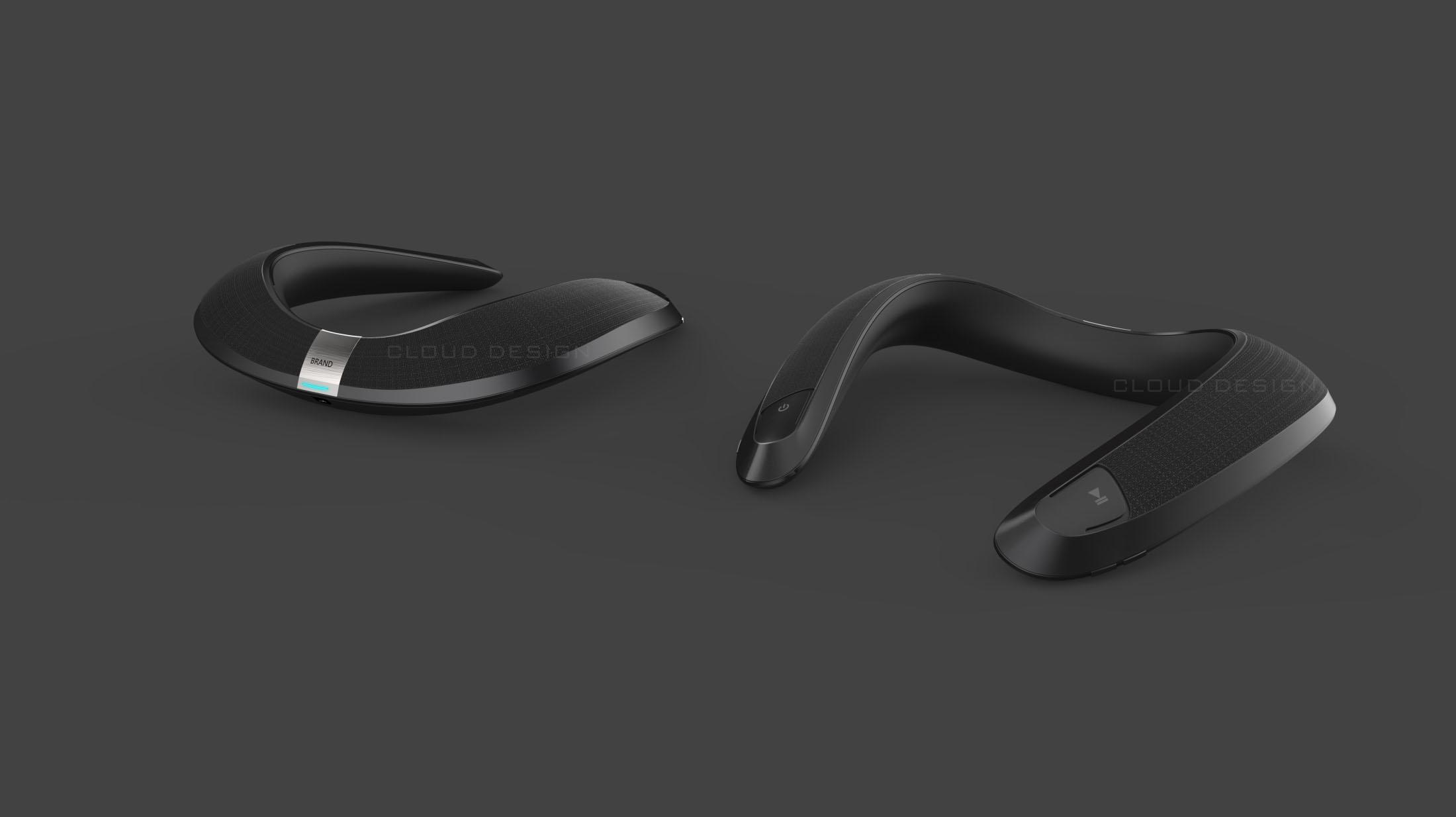 颈戴音乐魔环_产品设计-来设计